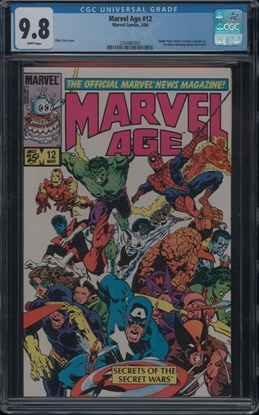 Picture of MARVEL AGE (1983) #12 CGC 9.8 NM/MT WP