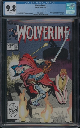 Picture of WOLVERINE (1988) #3 CGC 9.8 NM/MT WP