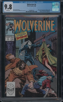 Picture of WOLVERINE (1988) #4 CGC 9.8 NM/MT WP