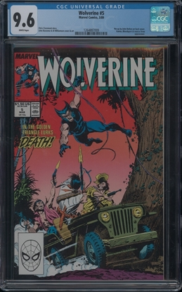 Picture of WOLVERINE (1988) #5 CGC 9.6 NM+ WP