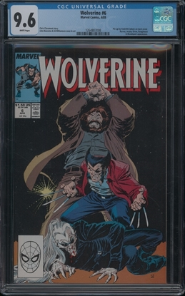 Picture of WOLVERINE (1988) #6 CGC 9.6 NM+ WP