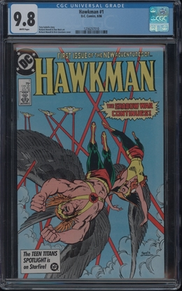 Picture of HAWKMAN (1986) #1 CGC 9.8 NM/MT WP (ID010)