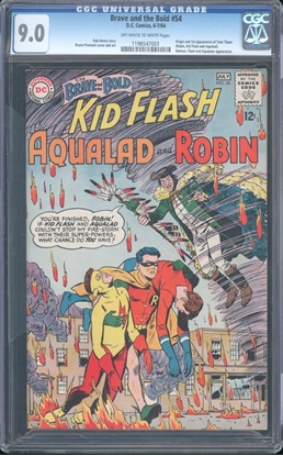 Picture of BRAVE AND THE BOLD #54 CGC 9.0 VF/NM OWW  (7001)