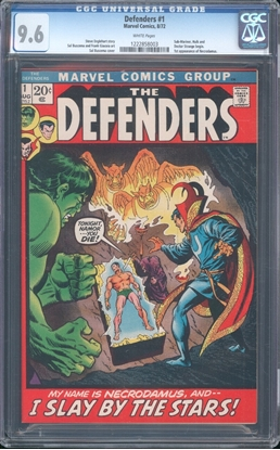 Picture of DEFENDERS #1 CGC 9.6 NM+  WP