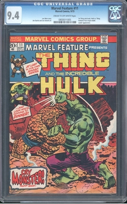 Picture of MARVEL FEATURE #11 CGC 9.4  NM COW