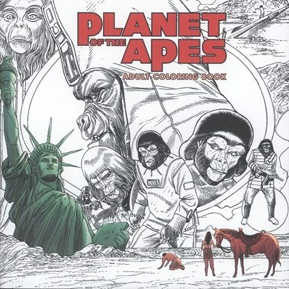 Picture of PLANET OF THE APES ADULT COLORING BOOK SC (C: 0-1-2)