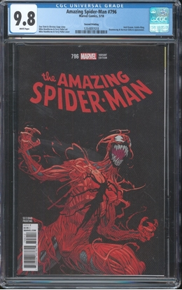 Picture of AMAZING SPIDER-MAN #796 CGC 9.8 NM/MT WP 2ND PRINT VAR - copy