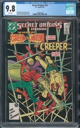 Picture of SECRET ORIGINS (1986) #18 CGC 9.8 NM/MT WP