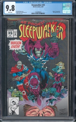 Picture of SLEEPWALKER #25 CGC 9.8 NM/MT WP