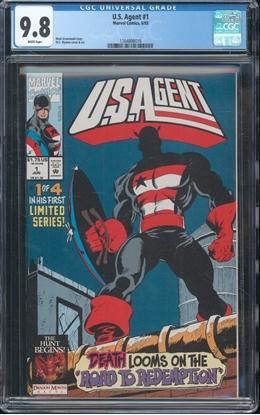 Picture of U.S. AGENT (1993) #1 CGC 9.8 NM/MT WP