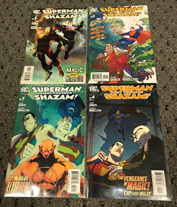 Picture of SUPERMAN SHAZAM FIRST THUNDER #1-4 1ST PRINT SET