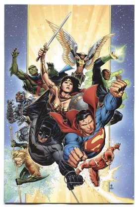 Picture of JUSTICE LEAGUE #1 THANK YOU VIRGIN VARIANT NM