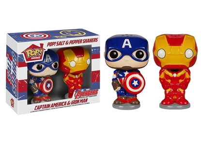 Picture of FUNKO POP HOME MARVEL SALT N PEPPER SHAKER SET OF 2 CAPTAIN AMERICA & IRON MAN CAPTAIN AMERICA AGE OF ULTRON