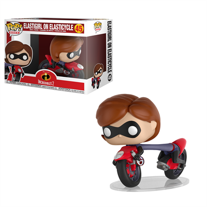 Picture of FUNKO POP RIDES DISNEY INCREDIBLES ELASTIGIRL ON ELASTICYCLE #45