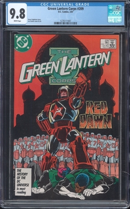Picture of GREEN LANTERN (1960) #209 CGC 9.8 NM/MT WP