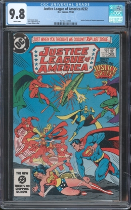 Picture of JUSTICE LEAGUE OF AMERICA (1960) #232 CGC 9.8 NM/MT WP