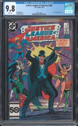 Picture of JUSTICE LEAGUE OF AMERICA (1960) #240 CGC 9.8 NM/MT WP
