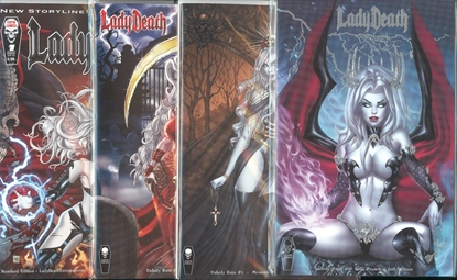 Picture of LADY DEATH UNHOLY RUIN #1 & 2 7 COVER SET NM