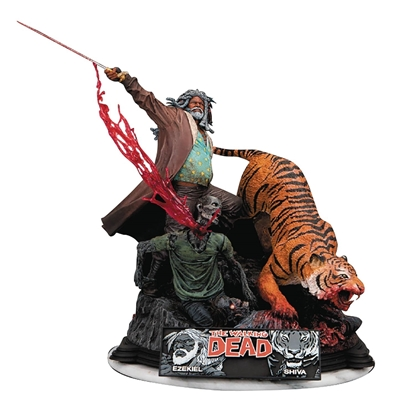 Picture of WALKING DEAD EZEZIEL & SHIVA RESIN STATUE (NET) (C: 1-1-2)