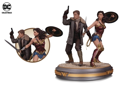 Picture of WONDER WOMAN MOVIE WONDER WOMAN & STEVE TREVOR STATUE