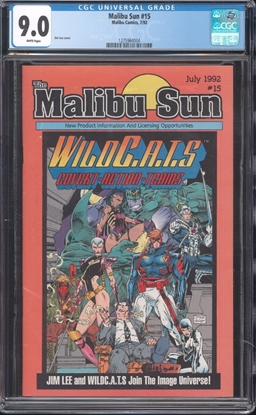 Picture of MALIBU SUN #15 CGC 9.0 VF/NM WP
