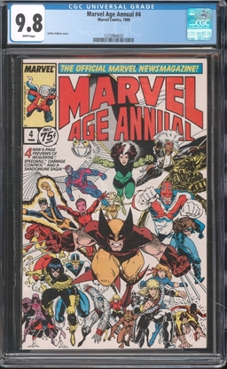 Picture of MARVEL AGE (1983) ANNUAL #4 CGC 9.8 NM/MT WP