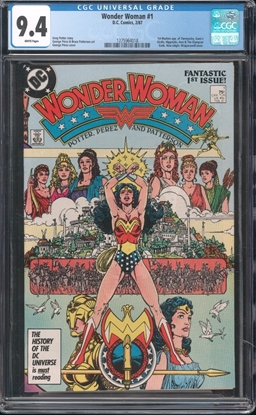 Picture of WONDER WOMAN (1987) #1 CGC 9.4 NM WP