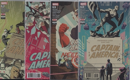 Picture of CAPTAIN AMERICA #701-704 1ST PRINT SET NM