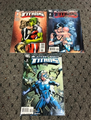 Picture of BLACKEST NIGHT TITANS #1-3 1ST PRINT SET  NM-