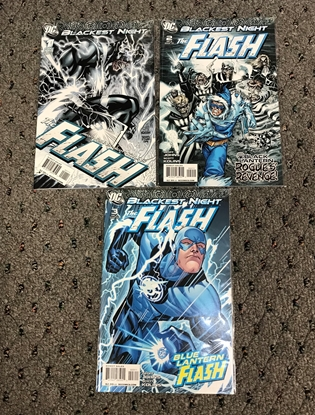 Picture of BLACKEST NIGHT  FLASH #1-3 1ST PRINT SET NM