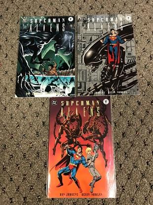Picture of SUPERMAN VS ALIENS (1995) #1-3 1ST PRINT SET NM-