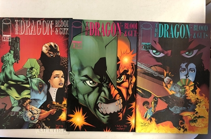 Picture of THE DRAGON BLOOD& GUTS #1 2 3 1ST PRINT SET VF
