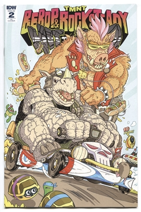 Picture of TMNT BEBOP ROCKSTEADY HIT THE ROAD #2 (OF 5) 10 COPY INCV FA