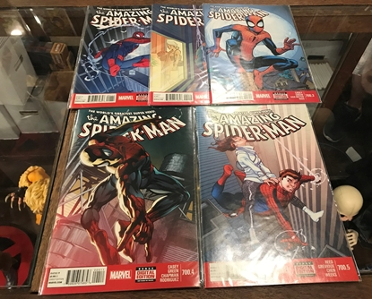 Picture of AMAZING SPIDER-MAN #700.1-700.5 1ST PRINT SET VF/NM