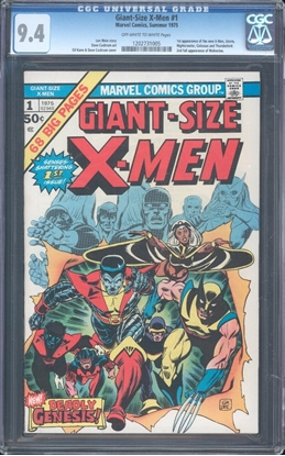 Picture of GIANT-SIZE X-MEN (1975) #1 CGC 9.4 NM OWW