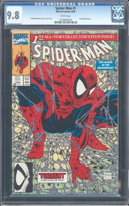 Picture of SPIDER-MAN (1990) #1 CGC 9.8 NM/MT WP 1ST PRINT