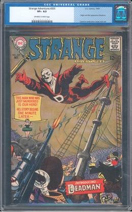 Picture of STRANGE ADVENTURES #205 CGC 8.5 VF+ OWW OLD LABEL