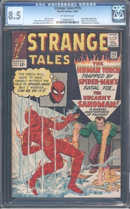 Picture of STRANGE TALES (1951) #115 CGC 8.5 VF+ OW