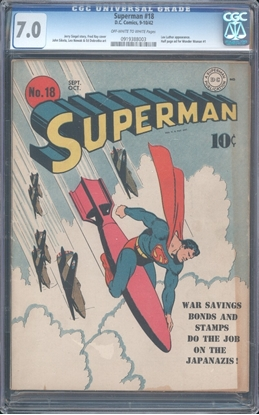 Picture of SUPERMAN (1939) #18 CGC 7.0 FN/VF OWW