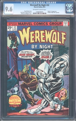 Picture of WEREWOLF BY NIGHT #32 CGC 9.6 NM+ OWW