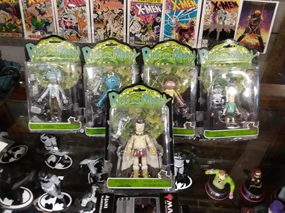 "Picture of FUNKO 5"" ARTICULATED ADULT SWIM RICK AND MORTY ACTION FIGURE SET OF 5 FULLY POSABLE NEW IN PACKAGE"
