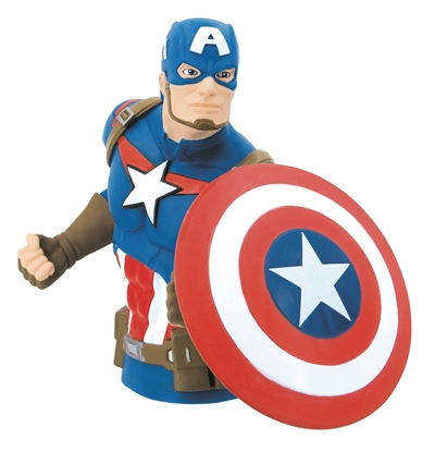 Picture of MARVEL CAPTAIN AMERICA PVC BUST BANK (C: 1-1-2)