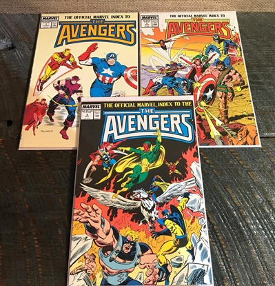 Picture of OFFICIAL MARVEL INDEX TO THE AVENGERS (1987) #1-3 SET