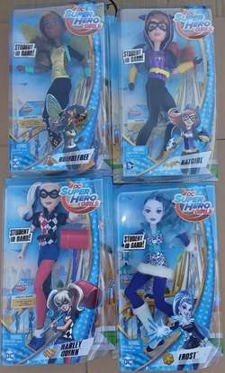 "Picture of MATTEL DC SUPER HERO GIRLS SET OF 4 12"" POSABLE FIGURES NEW IN BOX"