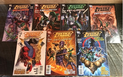 Picture of JUSTICE LEAGUE CRY FOR JUSTICE (2009) 1-7 SET VF/NM
