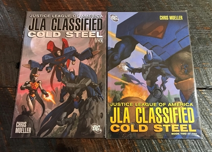 Picture of JLA CLASSIFIED COLD STEEL #1 & 2 GRAPHIC NOVEL SET VF/NM