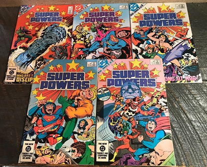 Picture of SUPER POWERS (1984) #1-5 SET MINI SERIES