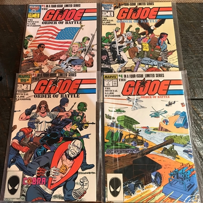 Picture of G.I. JOE ORDER OF BATTLE (1986) #1-4 SET VF/NM
