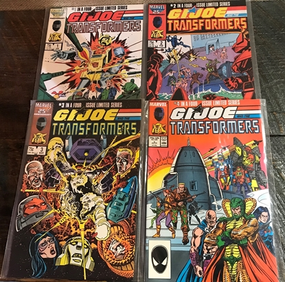 Picture of G.I. JOE AND THE TRANSFORMERS (1987) #1-4 SET VF/NM