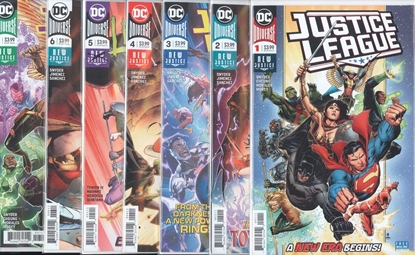 Picture of JUSTICE LEAGUE (2018) #1-7 1ST PRINT SET NM